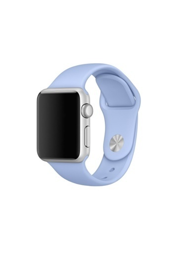 Jacobson Apple Watch 2 3 4 5 - 42 - 44 Mm Silikon Kordon Kayış Mavi